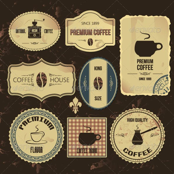 Coffee Vintage Labels