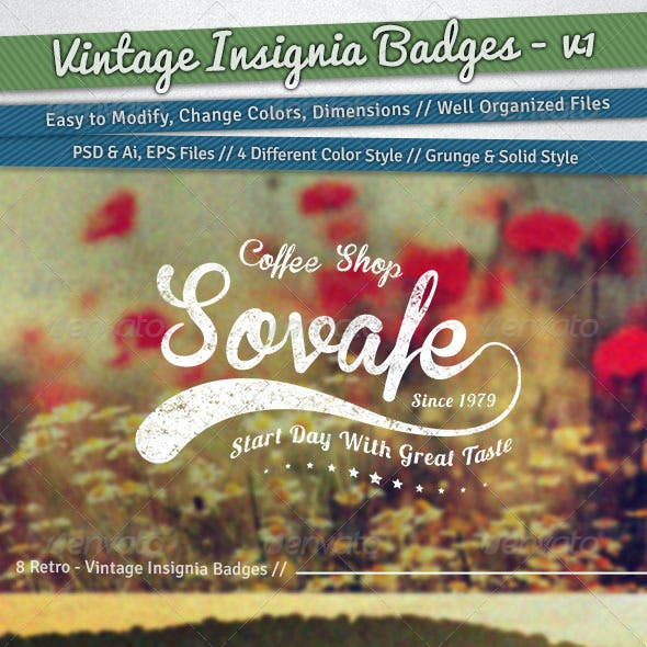 Vintage Insignia Badges | Volume 1