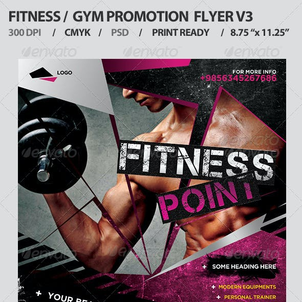 Fitness/Gym Business Promotion Flyer V3