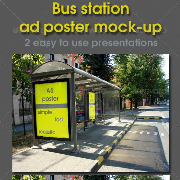 Bus Station Ad Poster Presentation