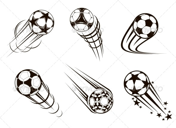 Soccer and Football Emblems - Sports/Activity Conceptual