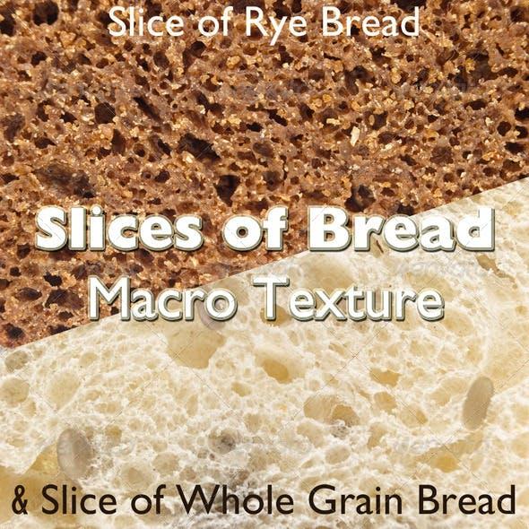 Slices of Bread. Macro Texture