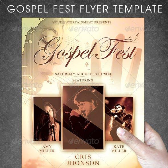 Gospel Fest Flyer Template