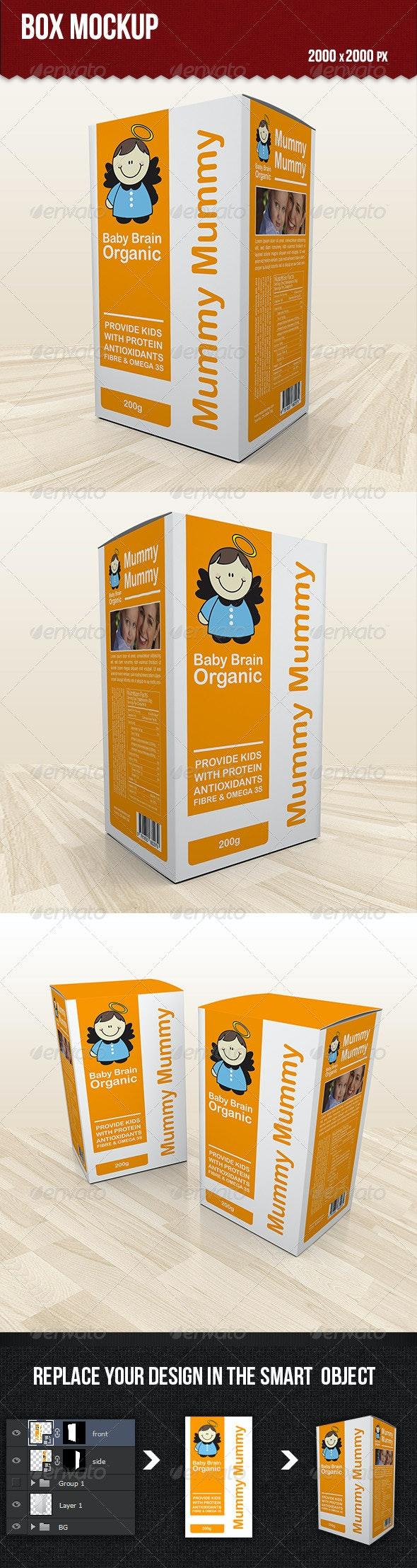Box Mockup - Product Mock-Ups Graphics