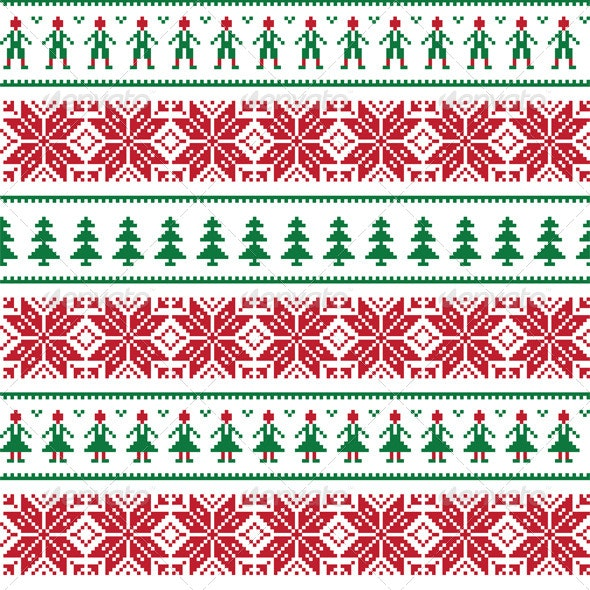 Christmas Nordic Seamless Pattern By Redkoala Graphicriver