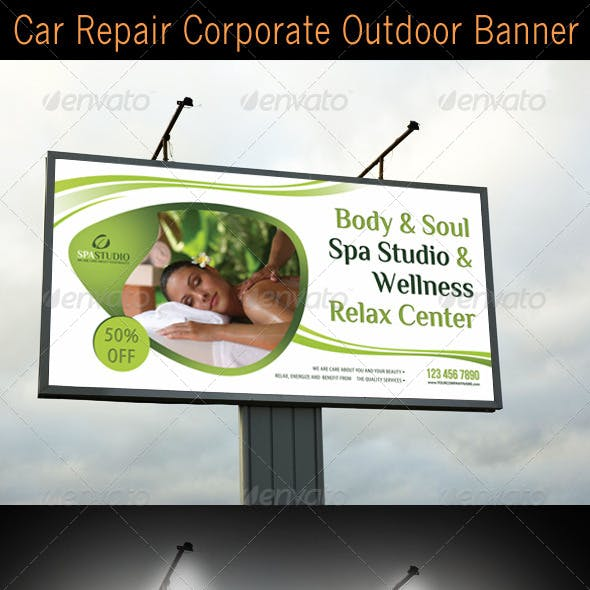 Spa Studio Outdoor Banner 03