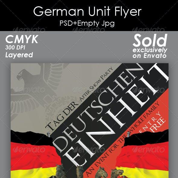 Germany Unit Day Flyer