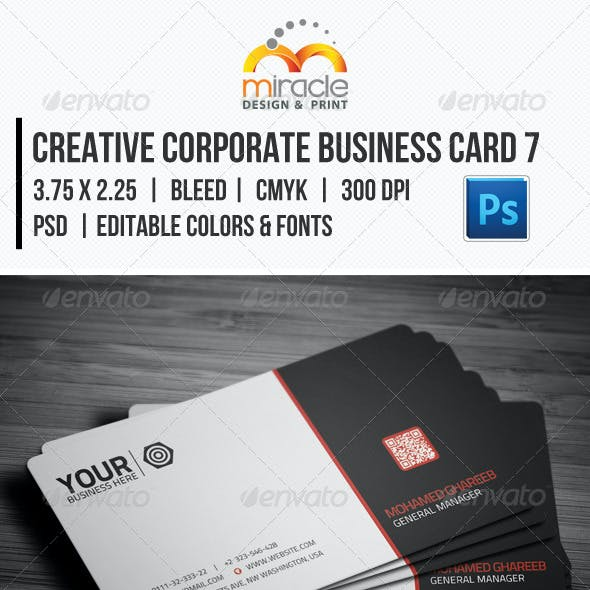 Creative Corporate Business Card 7