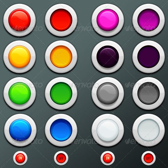 Colored Blank Buttons