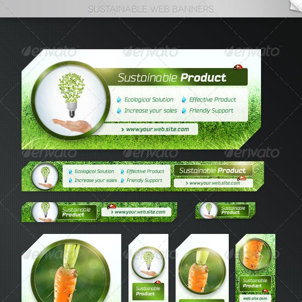 Sustainable Web Banner Templates