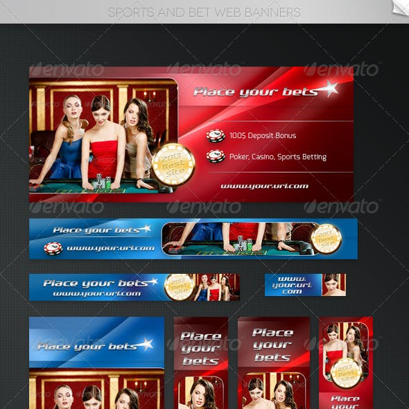 Sports and Bet Web Banners