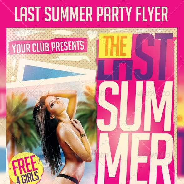 Last Summer Party Flyer Template