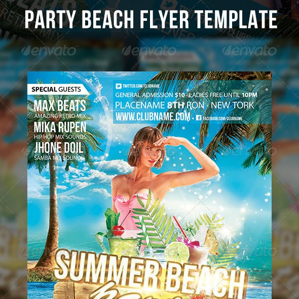 Party Beach Flyer Template