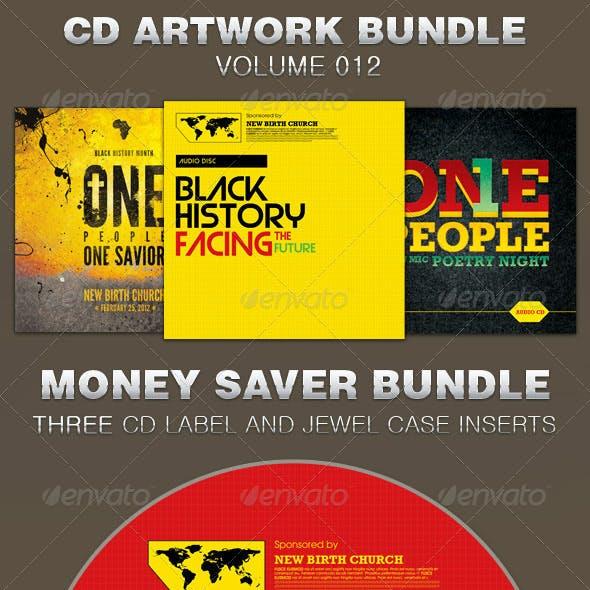 CD Cover Artwork Template Bundle-Vol 012