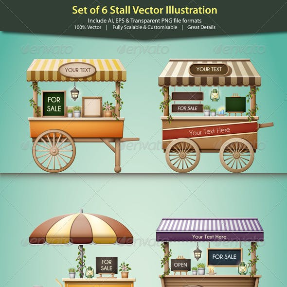 Stall Vector Illustration