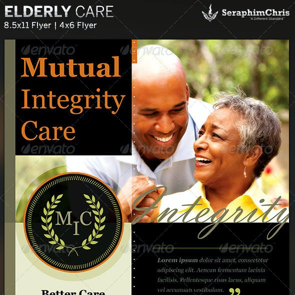 Elderly Care: Flyer Template