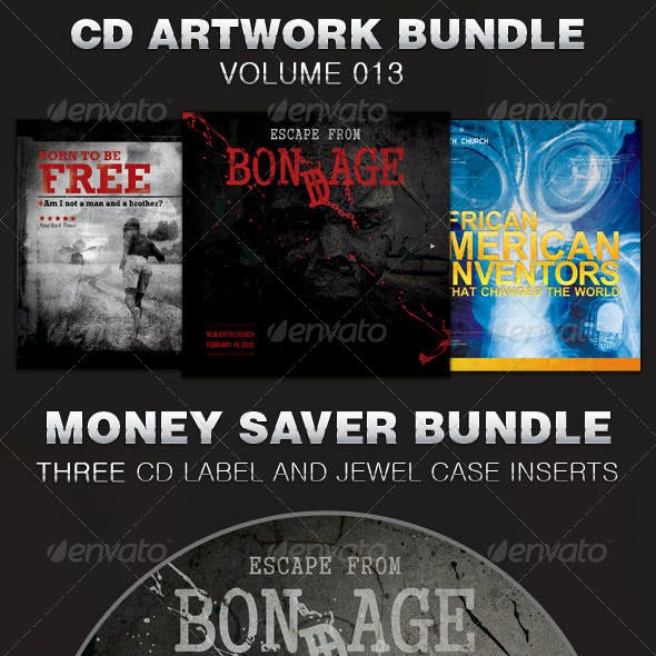 CD Cover Artwork Template Bundle-Vol 013