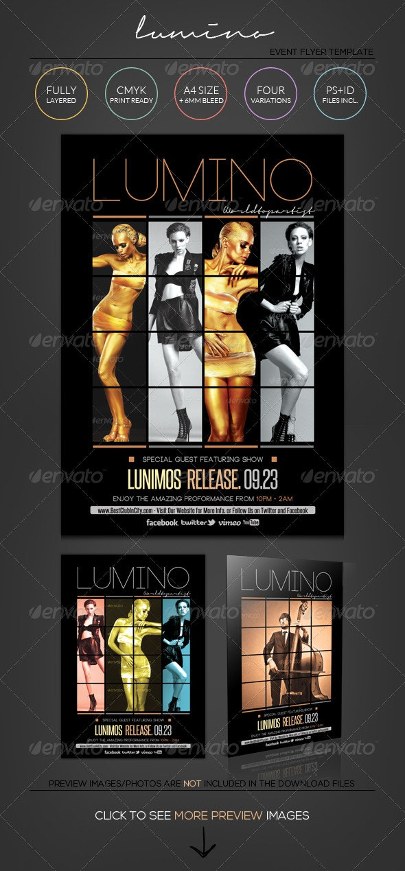 Lumino - Flyer/ Poster Template  - Events Flyers