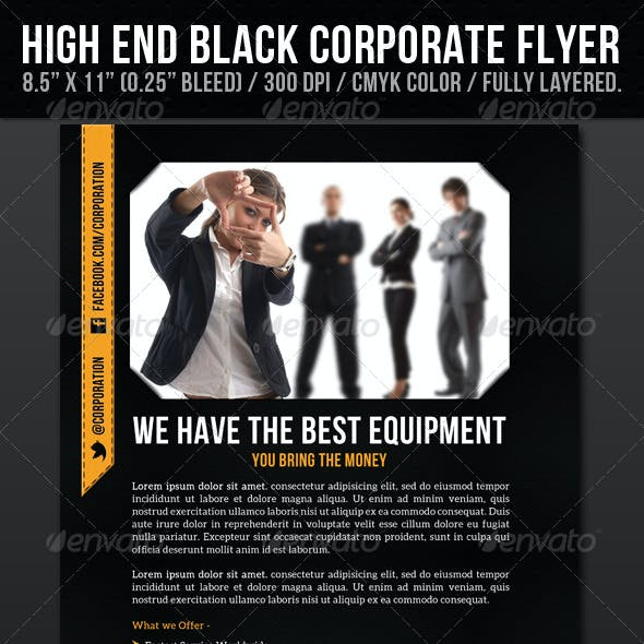 High End Black Corporate Flyer