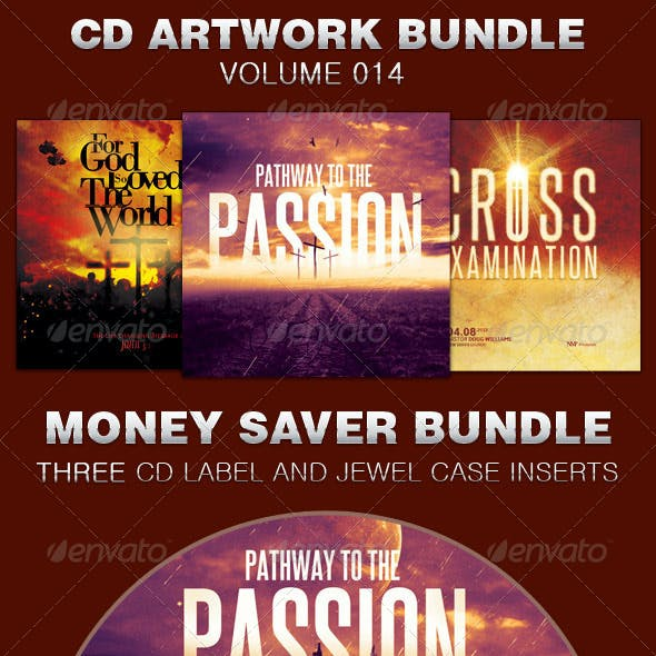 CD Cover Artwork Template Bundle-Vol 014