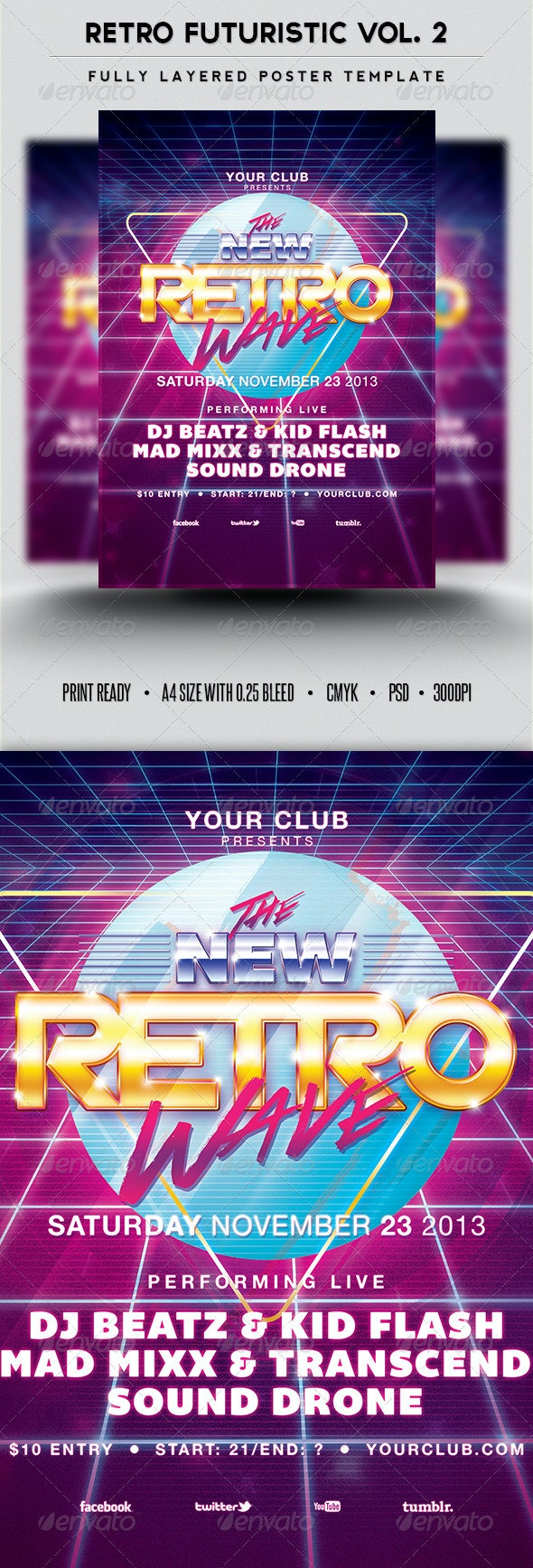 Retro Futuristic Vol.2 - Clubs & Parties Events