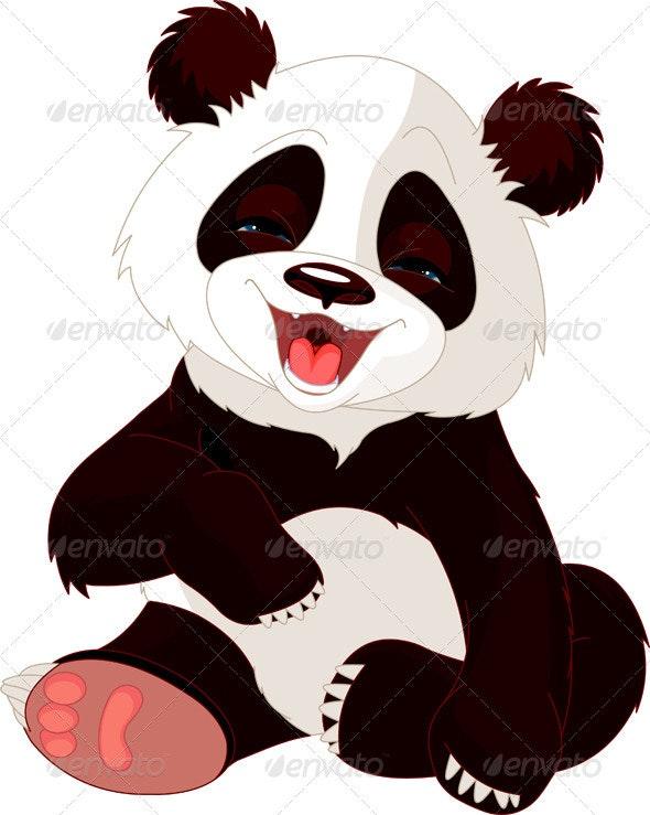 Baby Panda laughing - Animals Characters