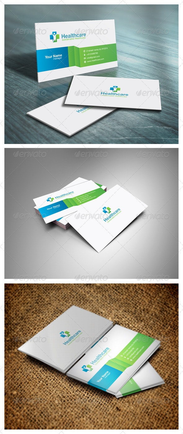 Healthcare Business Card - Corporate Business Cards