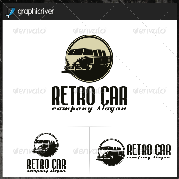 Retro Car Logo Templates
