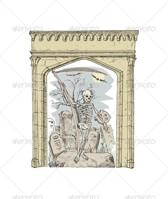 Cemetery Arch Grim Reaper
