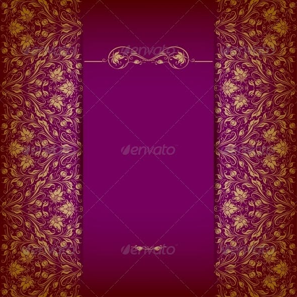 Elegant Background with Lace Ornament.