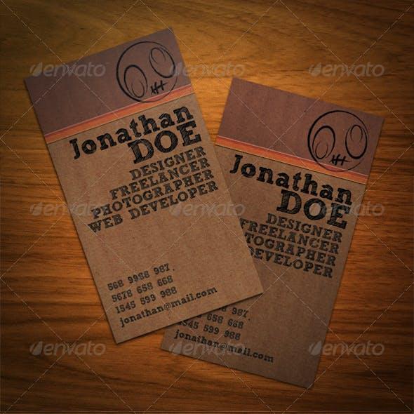 Creative Cardboard Business Card