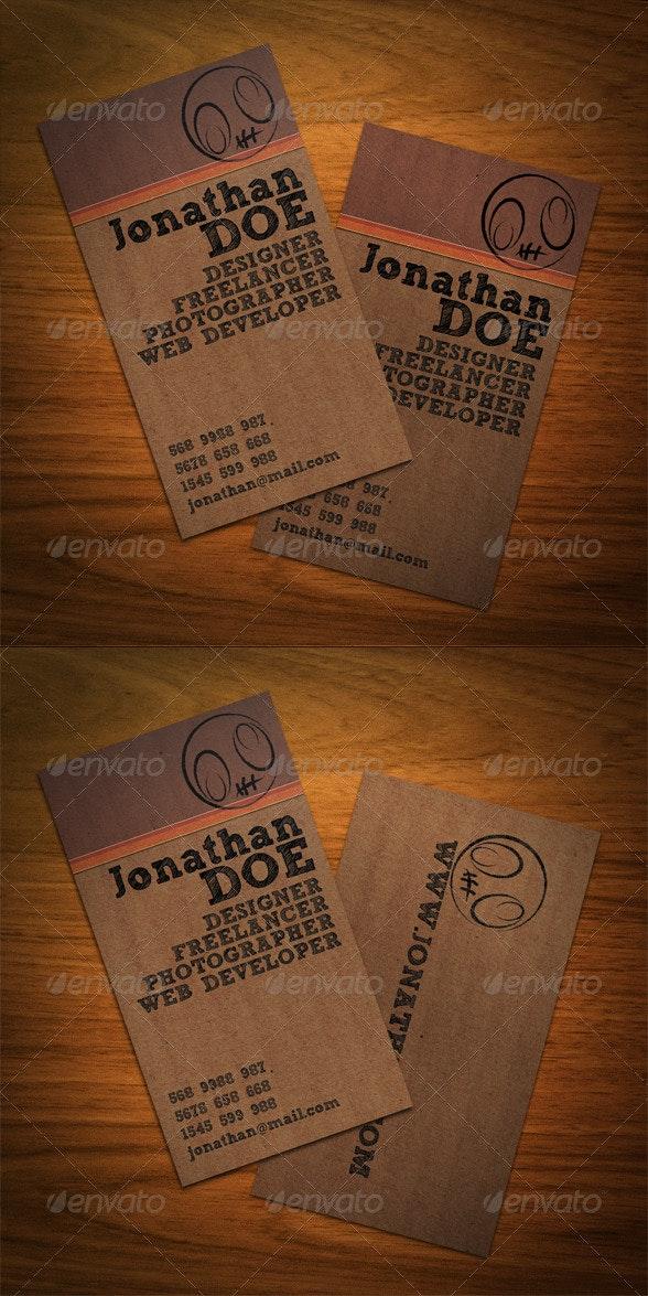 Creative Cardboard Business Card - Creative Business Cards