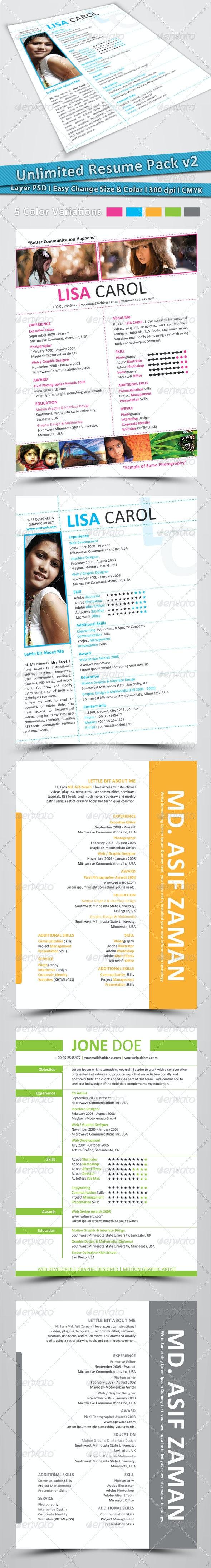 Unlimited Resume Pack v2 - Resumes Stationery