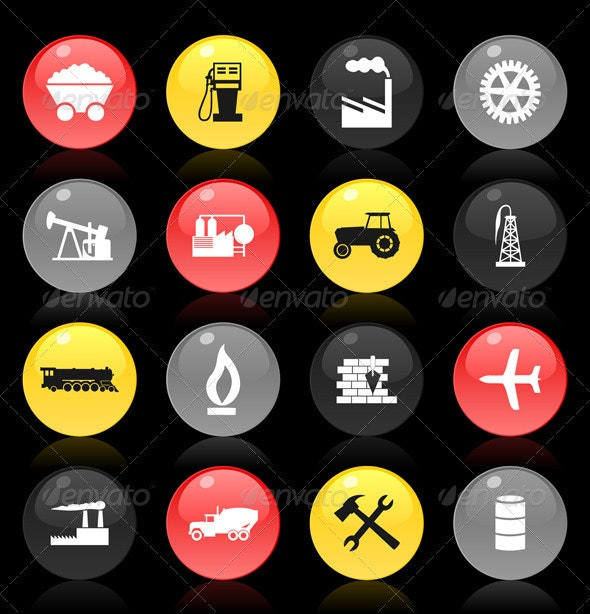 Industrial buttons - Man-made Objects Objects