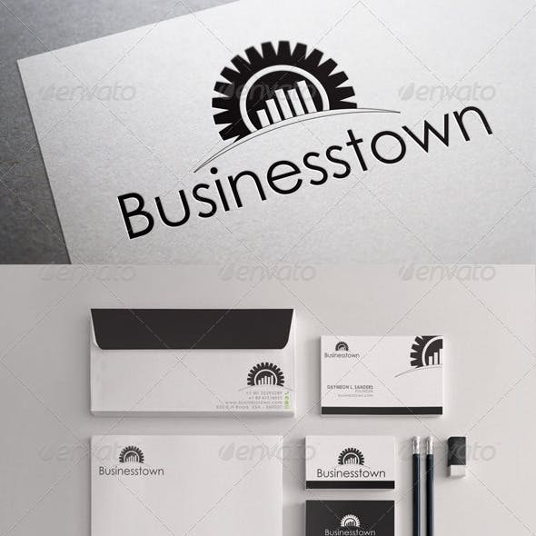 Black & White Business Town Stationary Templates