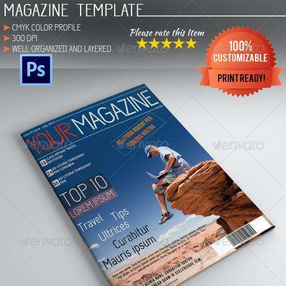 Photoshop Magazine Template Vol.4