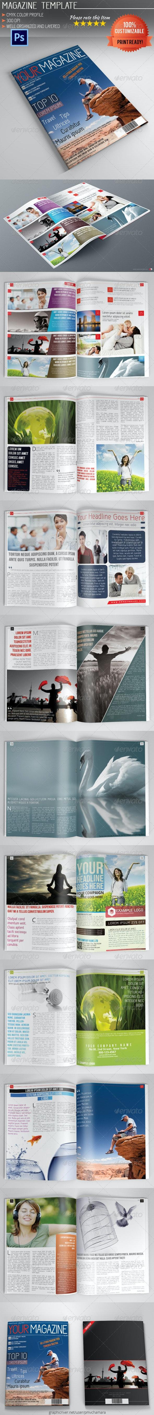 Photoshop Magazine Template Vol.4 - Magazines Print Templates