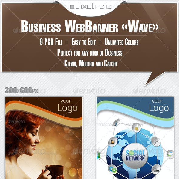 Business Banner - Wave