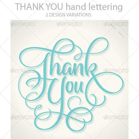 'Thank You' Hand Lettering