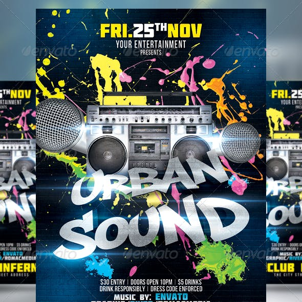 Urban Sound Party Flyer