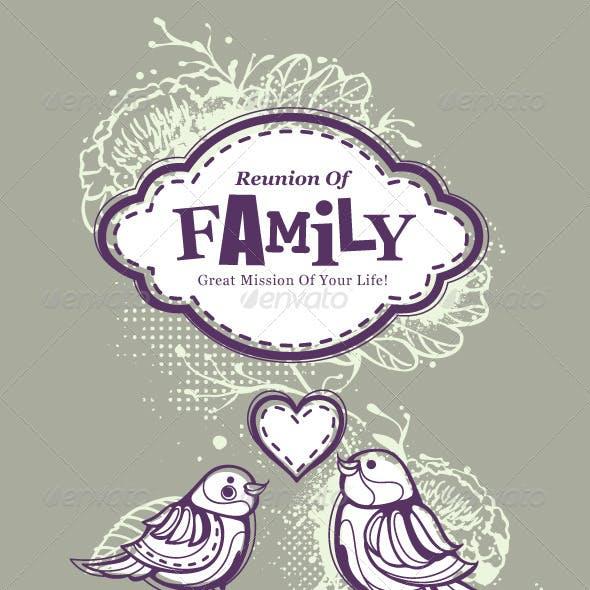 Bizarre T-shirt Design on Family Theme