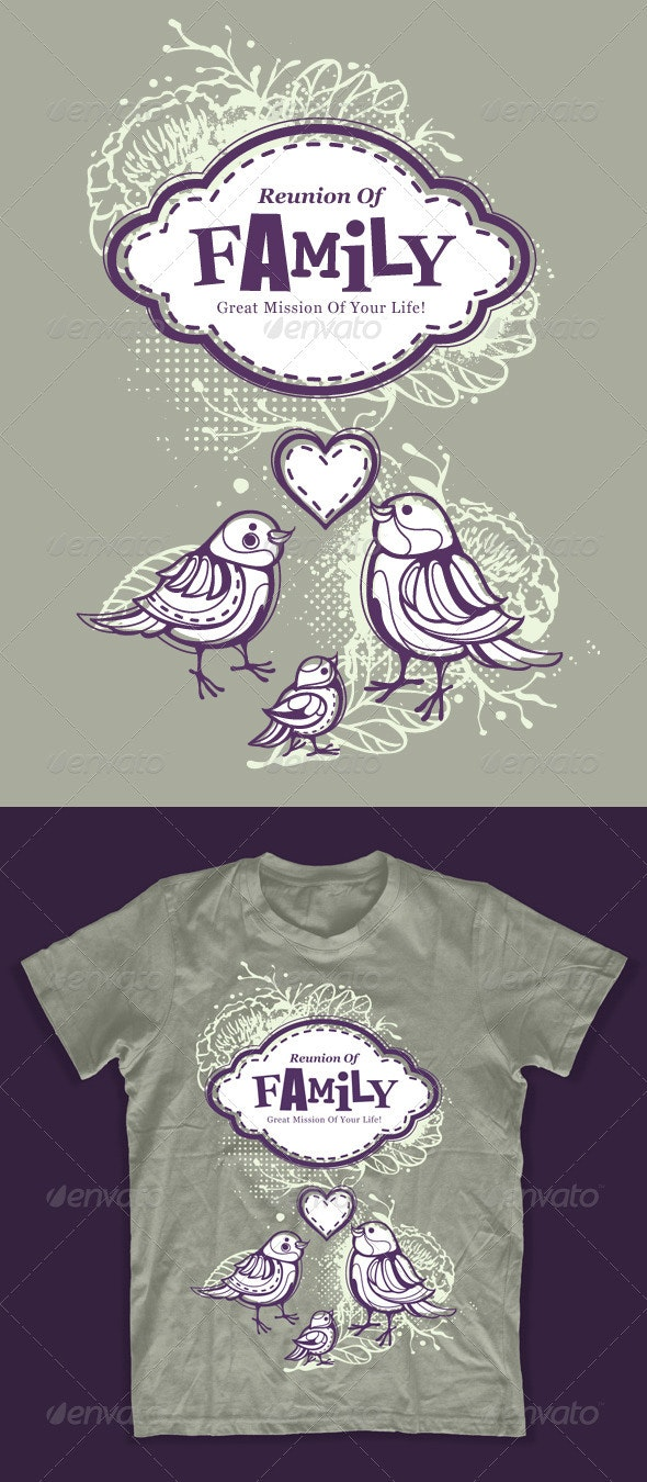 Bizarre T-shirt Design on Family Theme - Events T-Shirts