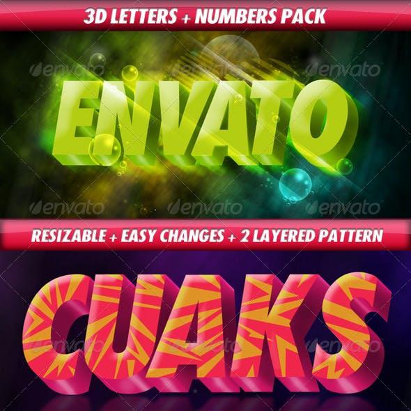 3D Letters Pack