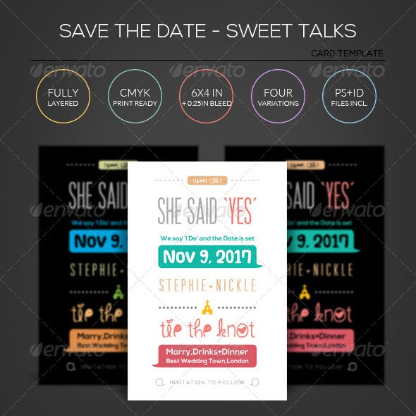 Sweet Talks - Wedding - Save the Date