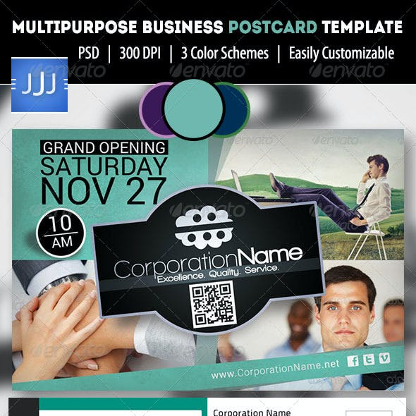 Multipurpose Business Postcard/Flyer