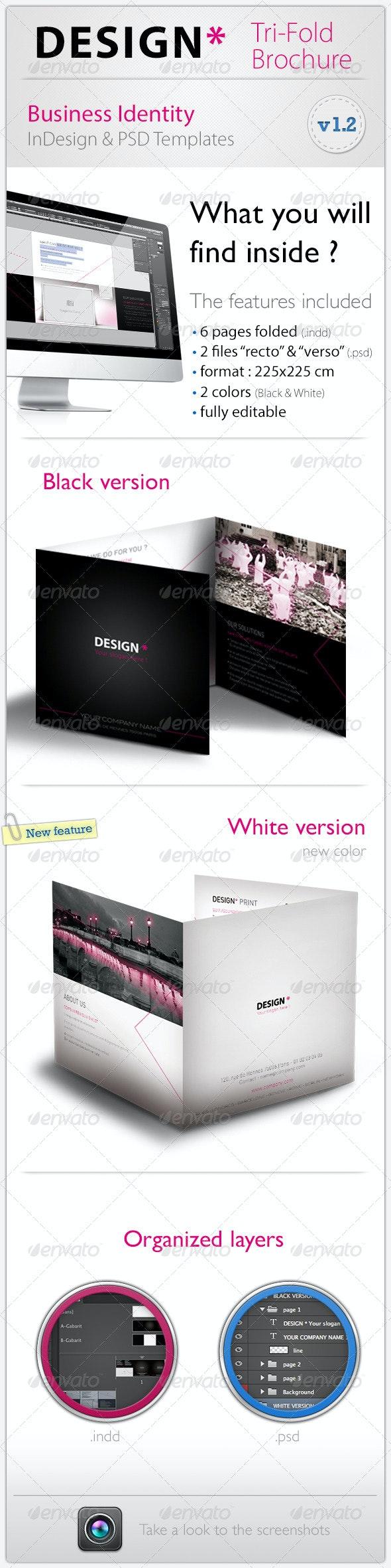 DESIGN* Tri-Fold Brochure - Corporate Brochures