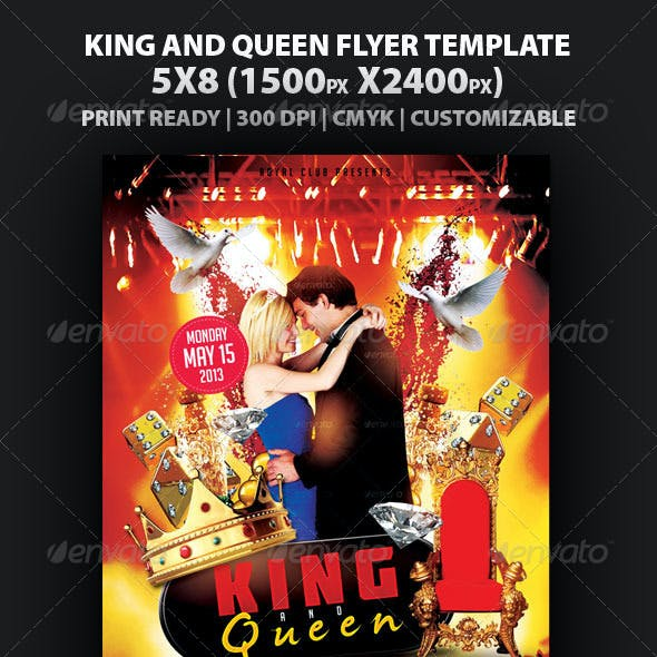 King And Queen Flyer Template