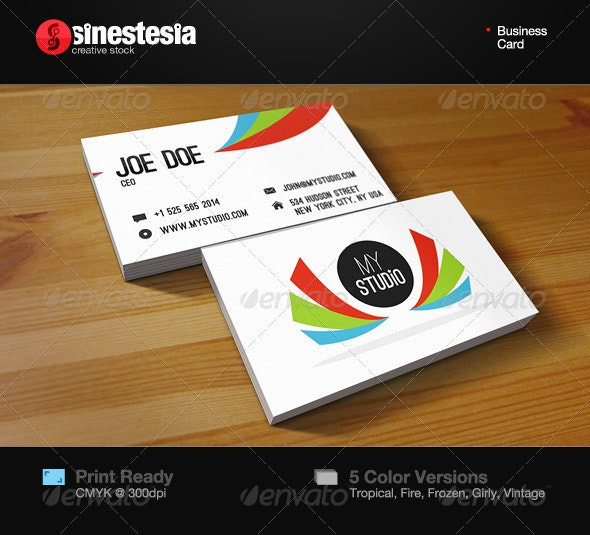 Wings Business Card - Corporate Business Cards