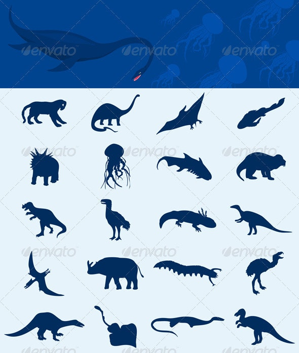Collection of a dinosaur - Animals Characters