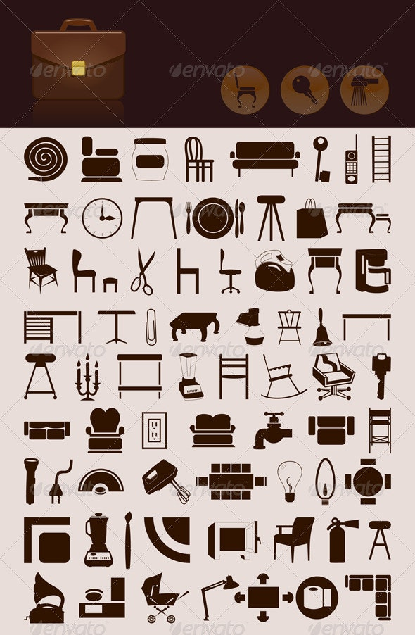 House icons - Man-made Objects Objects